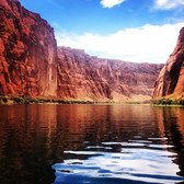 Rafting down the Grand Canyon