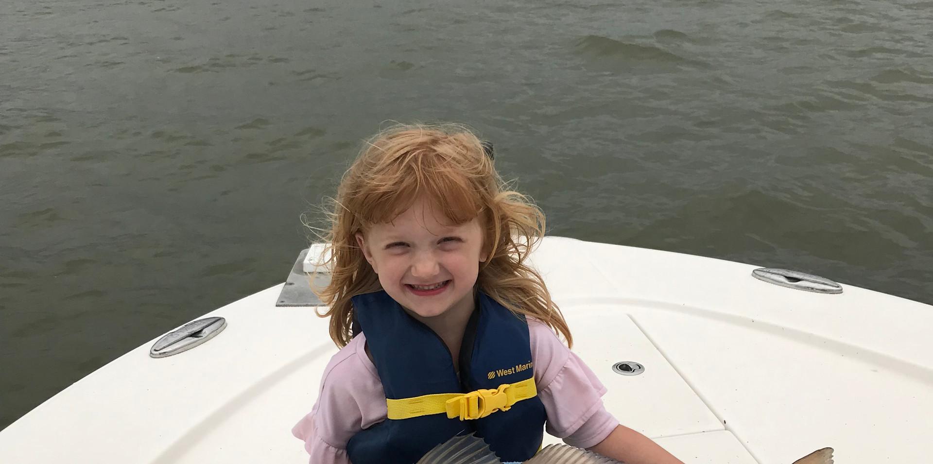 Avery's big catch in Galveston Bay