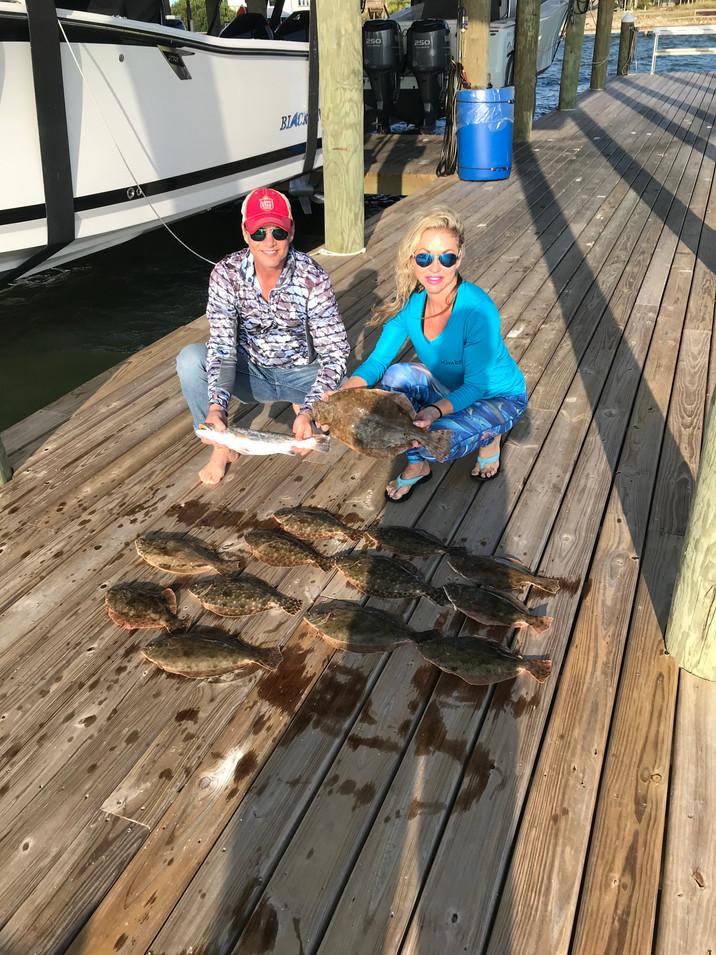 Flounder pounding Galveston Bay