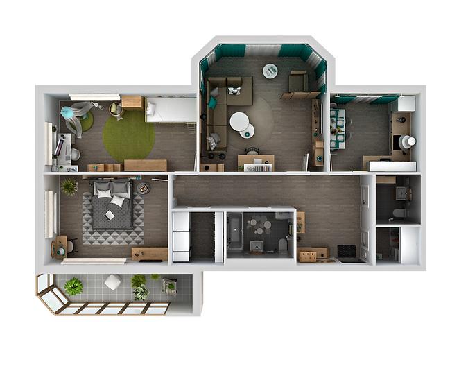 3 ком. квартира 106,3 м²
