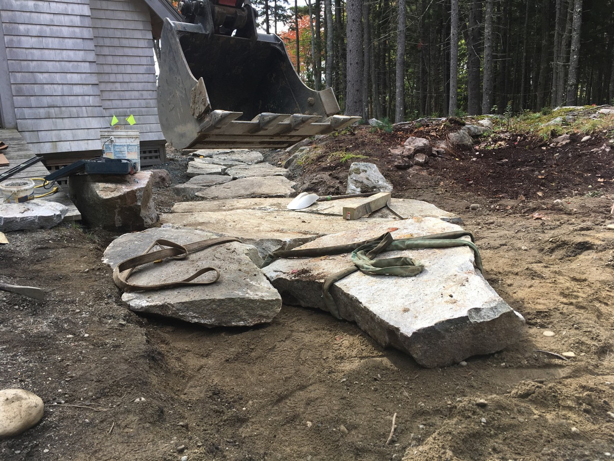 New entrance path under construction