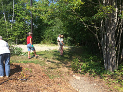 Cleaning up the woods edge