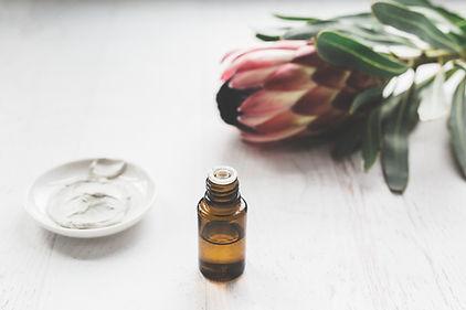 Massage cream and essential oils