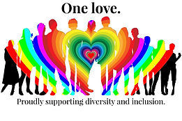 """A badge that reads """"Proudly supporting diversty and inclusion."""""""