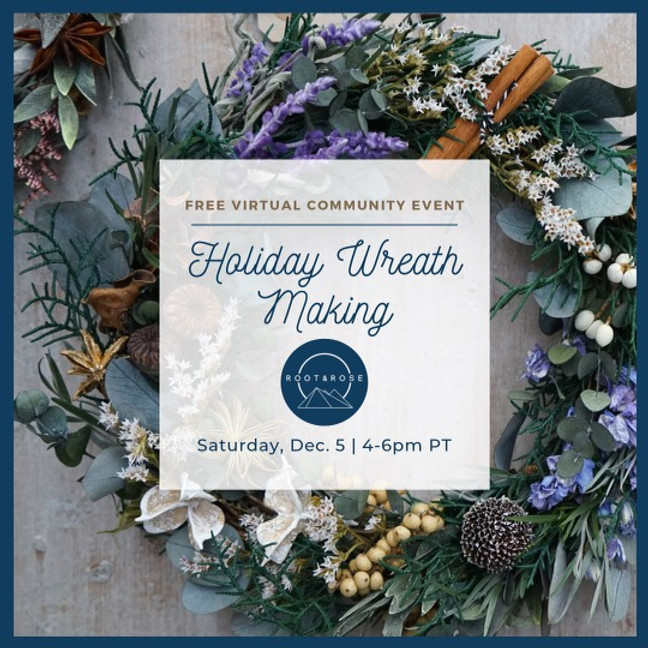 Holiday Wreath Making : A (free) Community Event