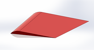 3D Model Curved Wing Surface