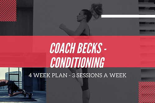 Coach Becks Conditioning Monthly Sessions