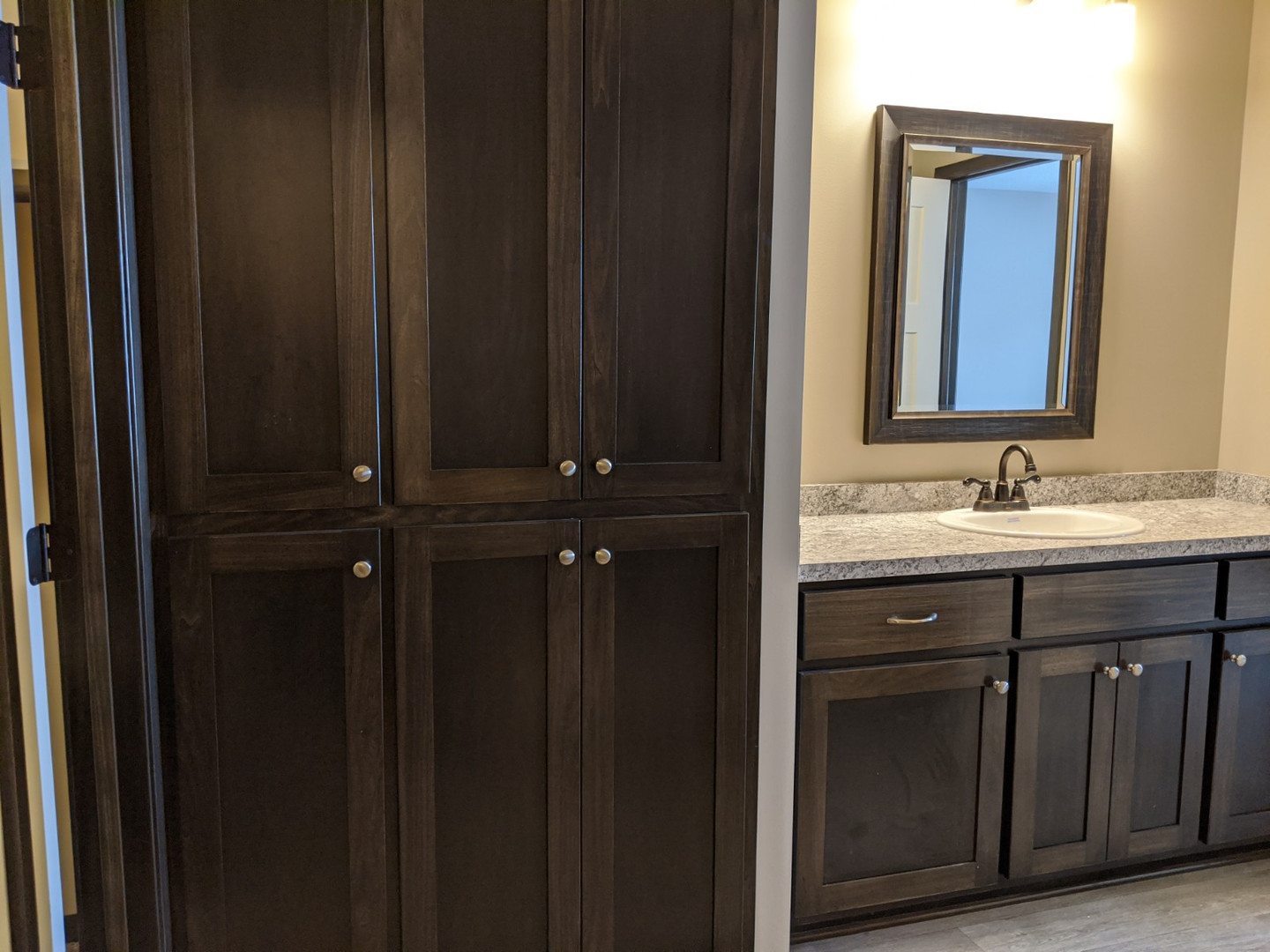 Built in cabinets in master bath
