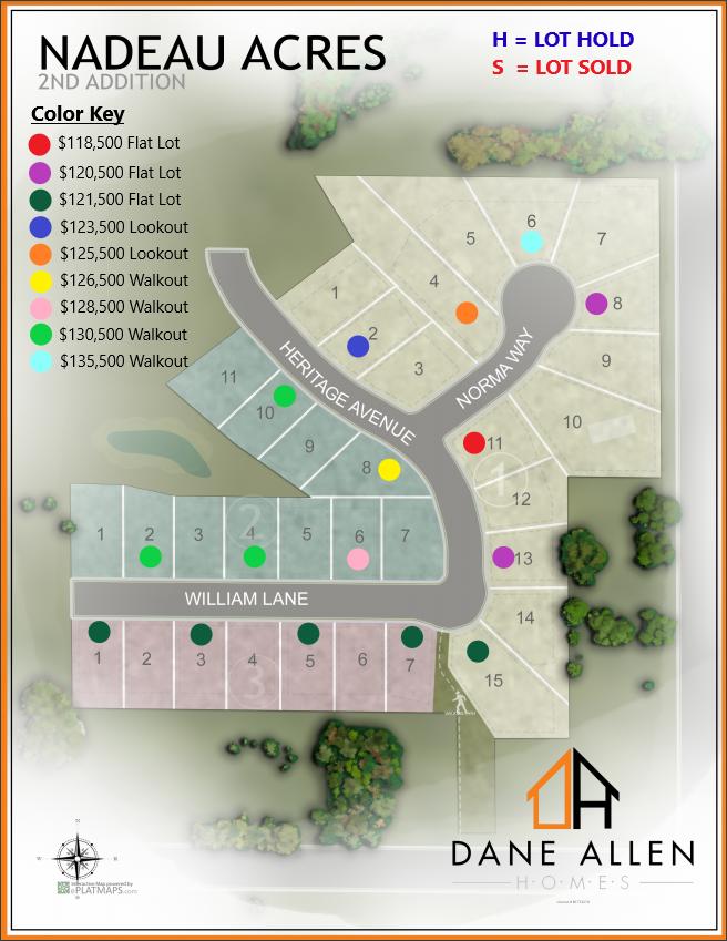 DAH Nadeau Acres phase 2 lot map 6.11.21