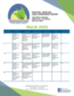 Rock Hill High Five Activity Calendar Ma