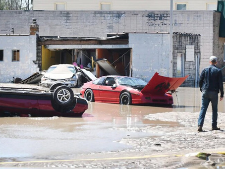 Tittabawassee River Floods and Destroys Fiero Museum