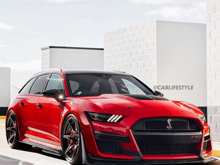 """Ford Mustang Shelby GT500 """"Super Wagon"""" Flexes Family Muscle"""