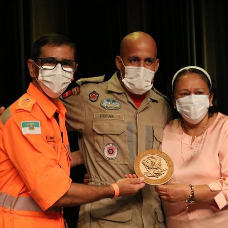 Corpo de Bombeiros da PB recebe homenagem da governadora do RN e do comandante geral do CBMRN