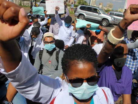 Kenyan doctors go on strike protesting inadequate benefits, PPE