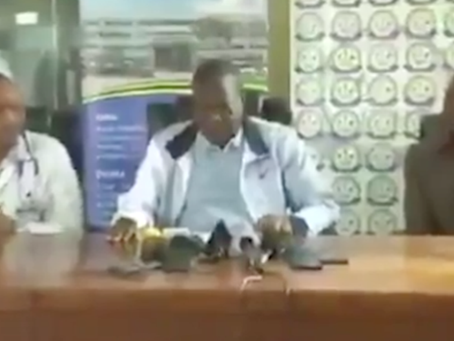 Tanzanian minister coughs through press conference aimed at defusing Covid fears
