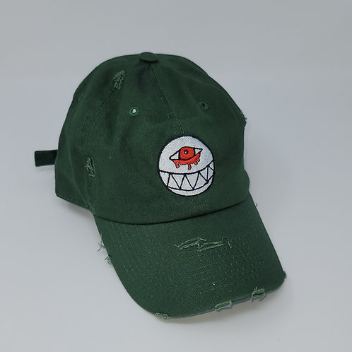 Distressed Military Green Dad Hat
