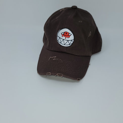 Distressed Chocolate Dad Hat