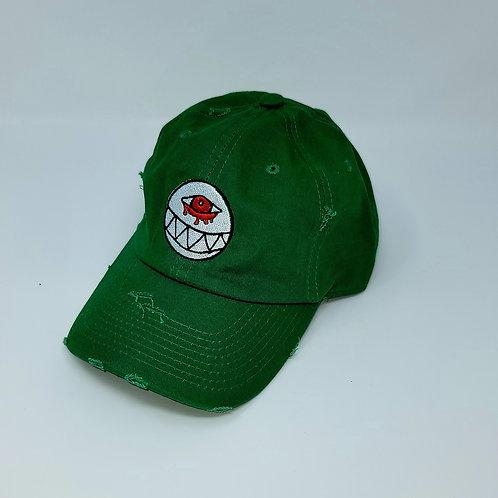 Distressed Kelly Green Dad Hat