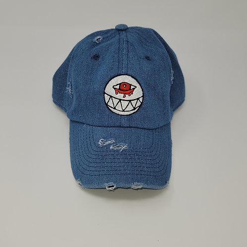 Distressed Denim Dad Hat
