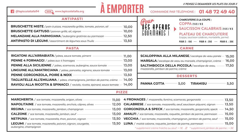 menu emporter