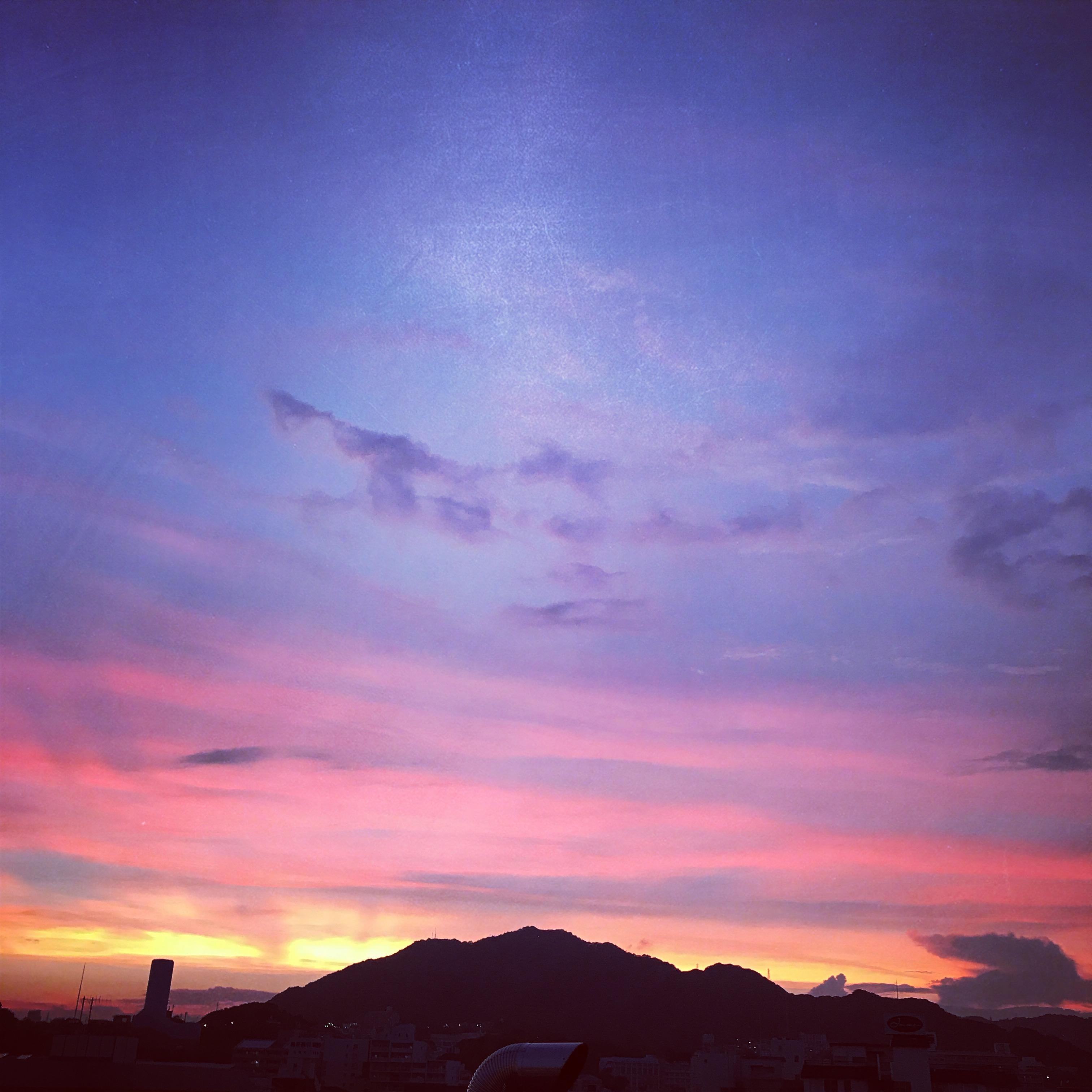 高取山の夕焼け