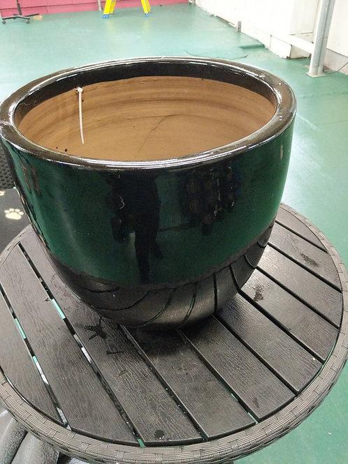 38 x 35 cm Black Egg Pot