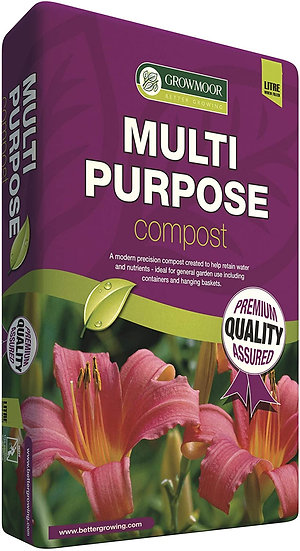 GROWMOOR MULTI PURPOSE COMPOST (10 Litre Bag)