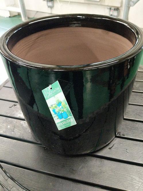 30 x 27 cm Black cylinder pot