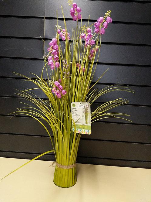 Faux violet bouquet