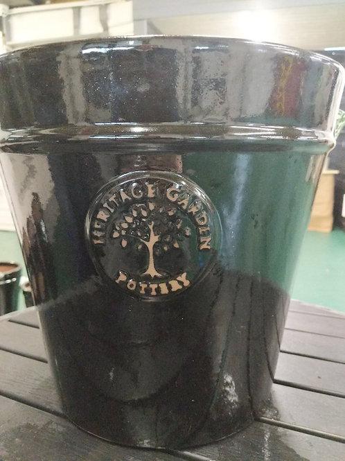 33 cm Black Heritage Pot