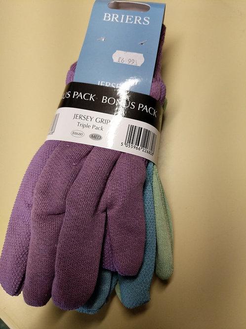 Garden gloves triple pack
