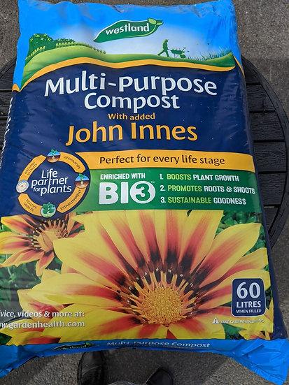 Multi-Purpose Compost with John Innes (2 bags)