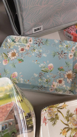 Blue tea tray