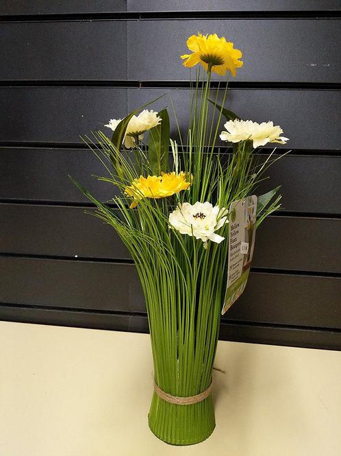Faux mellow yellow bouquet