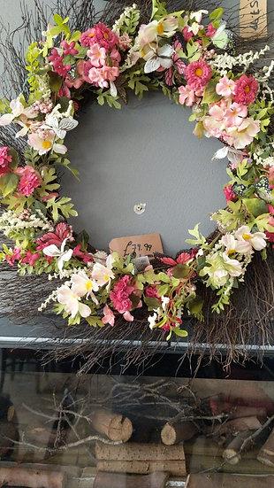 Large Floral Door Wreath