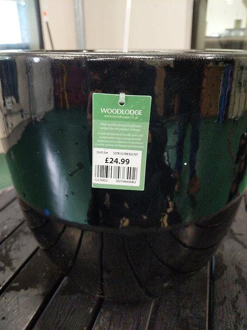 32 cm Black Egg Pot