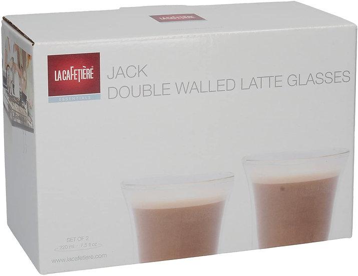 La Cafetière Set of 2 Jack Insulated Latte Glasses