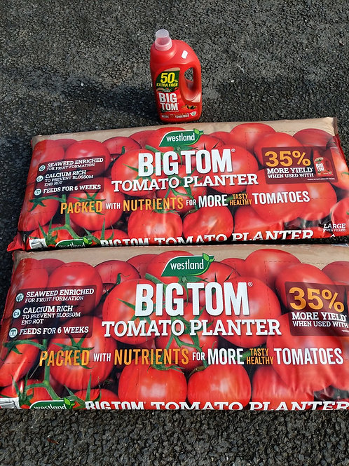 Tomato feed and 2 planters bundle