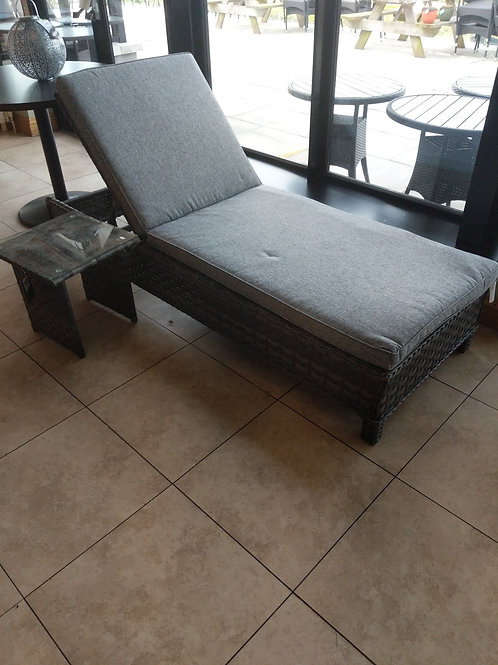 Lounger with side table