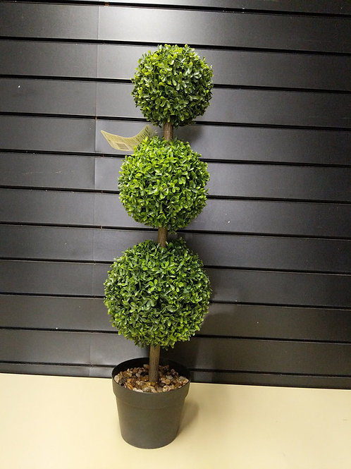 Faux Trio Topiary Tree 82 cm