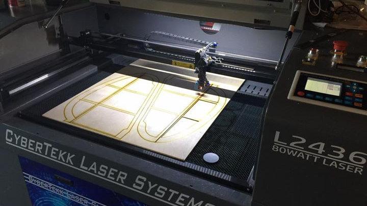 CyberTekk L2436 80Watt Laser Cutter/Engraver