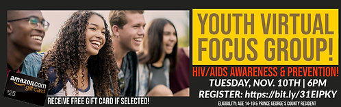 Virtual Focus Group for Youth | HIV Prevention