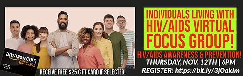 Virtual Focus Group for People Living With HIV