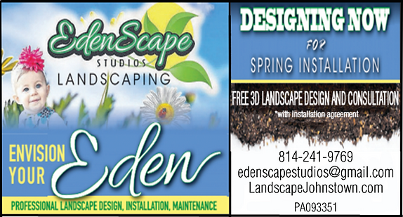 Edenscape Studios Landscaping, Johnstown landscapers, landscaping johnstown, landscape johnstown, windber