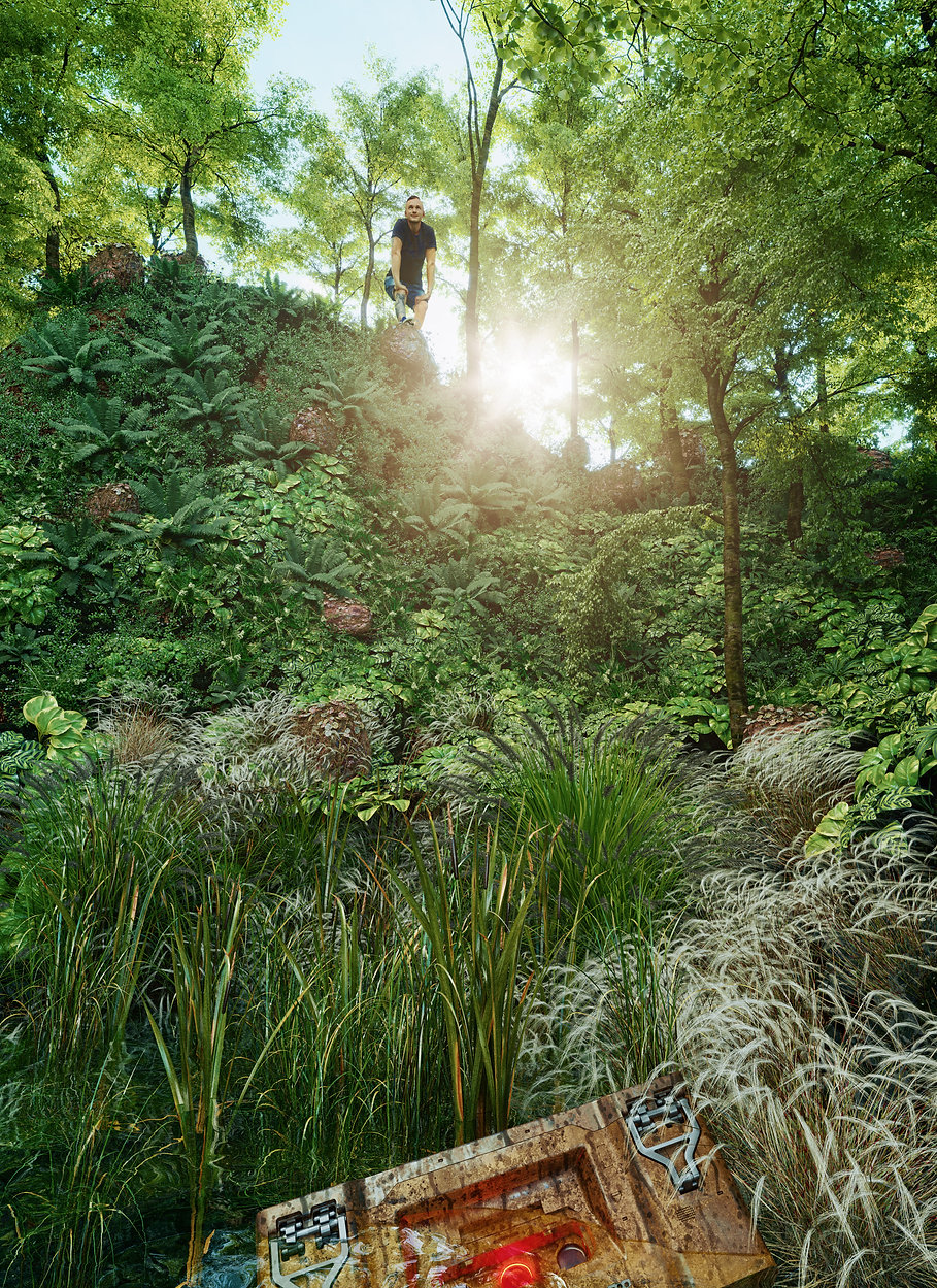 Studio Render di vegetazione effettuata con Corona Render