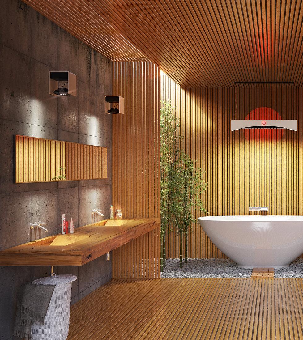 Bagno in legno creazione materiali vrayforc4d