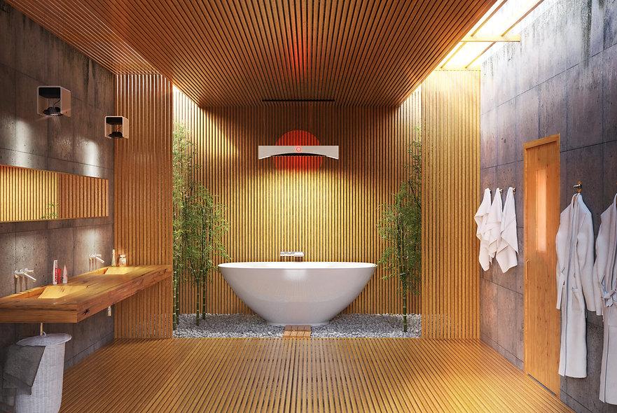 Bagno in bamboo studio render prerugia