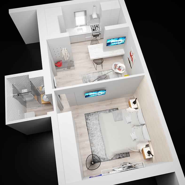 Render planimetrico appartamento