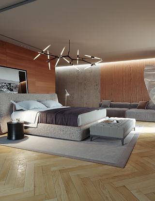 rendering nterno camera da letto studio rendr perugia