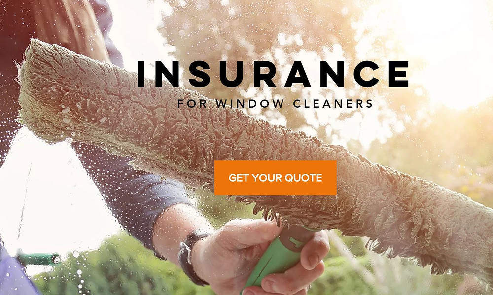 window cleaning insurance from Gleaming Insurance